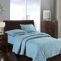 Волна Жорж (синий) Комплект Sofi de Marko Bedspread 160х220см