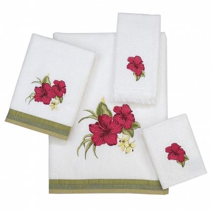 Полотенце для рук Avanti Hibiscus 035114WHT