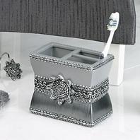Стакан для зубных щеток Avanti Braided Medallion Silver