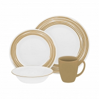 Набор посуды Corelle Brushed Sand 16пр