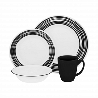 Набор посуды Corelle Brushed Black 16пр