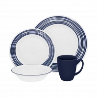 Набор посуды Corelle Brushed Cobalt Blue 16пр