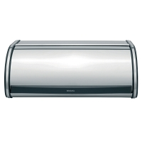 Хлебница Brabantia Bread Bin Brilliant Steel with Black Sides