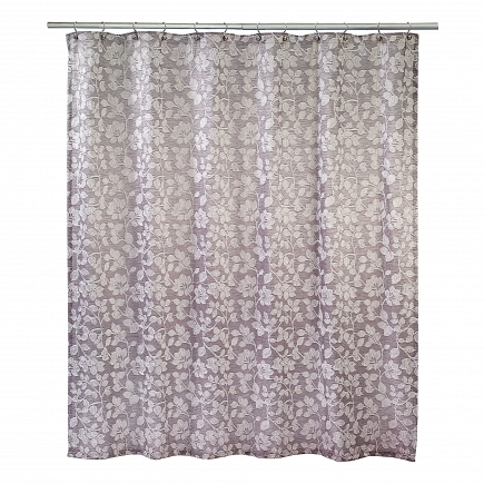 Шторка Avanti Shower Curtains Branches 183х183см 13861H-SLV