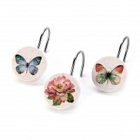 Набор из 12 крючков для шторки Avanti Butterfly Garden