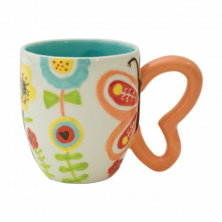 Кружка Boston Warehouse Kitchen Flower With Butterfly Handle 25167