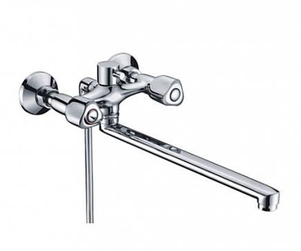 Смеситель для ванны WasserKRAFT Amper с длинным изливом 2902L
