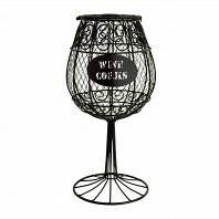 Декоративная емкость для винных пробок/мелочей Boston Warehouse Kitchen Wine Glass