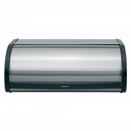 Хлебница Brabantia Bread Bin Matt Steel Fingerprint Proof with Black Sides 299445