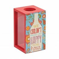 Декоративная емкость для винных пробок/мелочей Boston Warehouse Kitchen Happy Hour