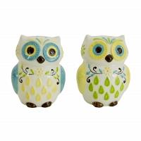 Набор солонка и перечница Boston Warehouse Kitchen Floral Owl