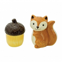 Набор солонка и перечница Boston Warehouse Kitchen Woodland Friends Squirrel