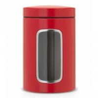 Контейнер для сыпучих продуктов с окном Brabantia Passion Red 1,4л