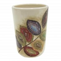 Стакан для зубной пасты Croscill Mosaic Leaves