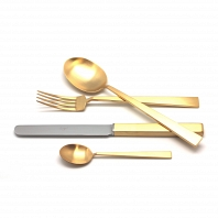 Матовый набор Cutipol Bauhaus Gold 72пр.