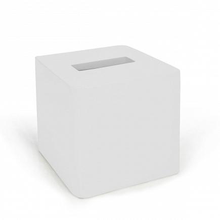 Бокс для салфеток (салфетница) Kassatex Lacca White ALA-TH-W
