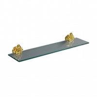 Полка стеклянная Art&Max Rose Золото