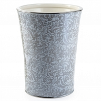 Корзина для мусора Kassatex Bedminster Scroll Flint Grey
