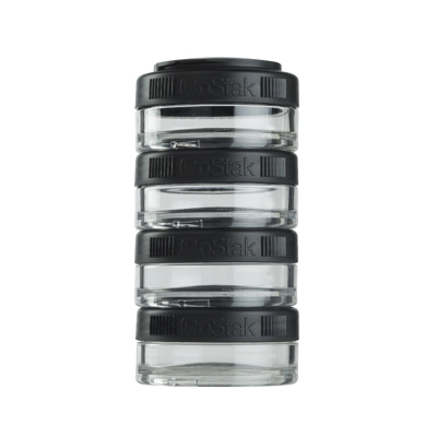 Контейнеры BlenderBottle GoStak 40мл (4 контейнера) черный BB-GS40-BLCK