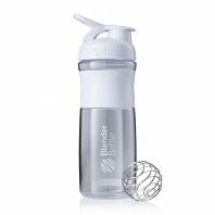 Шейкер BlenderBottle SportMixer 828мл Clear White (белый)
