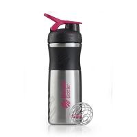 Шейкер BlenderBottle SportMixer Stainless 828мл Black/Pink (черный/малиновый)