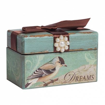 Декоративная коробка с бархатной лентой Tiffany DG Home Decor DG-D-822A