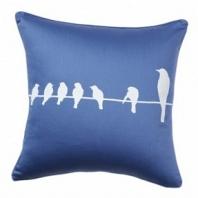 Подушка с принтом Birdies On A Wire Diamond-Blue DG Home Pillows