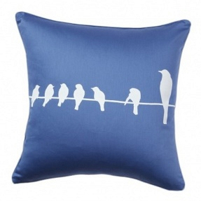 Подушка с принтом Birdies On A Wire Diamond-Blue DG Home Pillows DG-D-PL13B