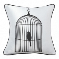 Подушка с принтом Birdie In A Cage White DG Home Pillows