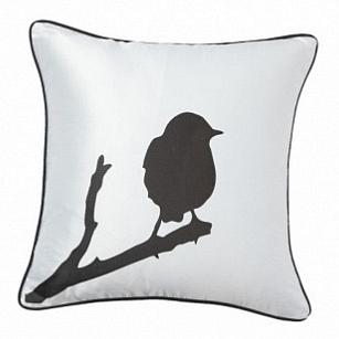 Подушка с принтом Lone Bird White DG Home Pillows DG-D-PL15W