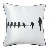 Подушка с принтом Birdies On A Wire White DG Home Pillows