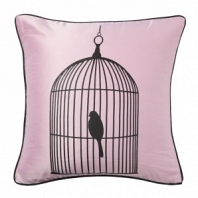 Подушка с принтом Birdie In A Cage Pink DG Home Pillows