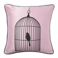 Подушка с принтом Birdie In A Cage Pink DG Home Pillows