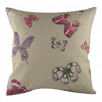 Подушка с принтом Pink Butterflies DG Home Pillows DG-D-PL221
