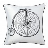 Подушка с принтом Retro Bicycle White DG Home Pillows