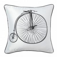 Подушка с принтом Retro Bicycle White DG Home Pillows