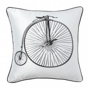 Подушка с принтом Retro Bicycle White DG Home Pillows DG-D-PL22W