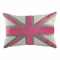 Подушка с британским флагом Pink Velvet DG Home Pillows