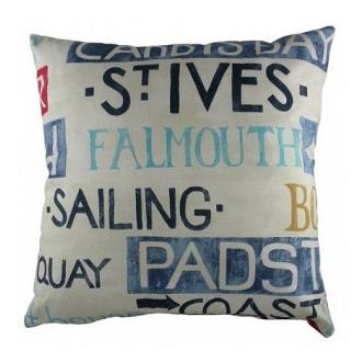 Большая подушка с надписями Seaport DG Home Pillows DG-D-PL238