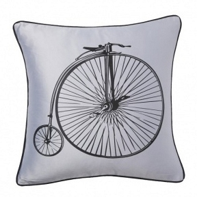 Подушка с принтом Retro Bicycle Grey DG Home Pillows DG-D-PL23GR