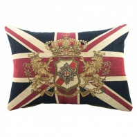 Большая королевская подушка с британским флагом DG Home Pillows