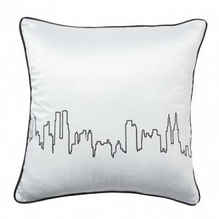 Подушка с принтом City Waves White DG Home Pillows DG-D-PL25W