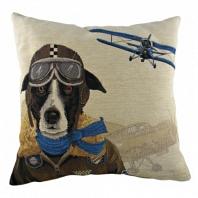 Подушка с принтом Doggie Fighters Blue DG Home Pillows
