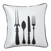 Подушка с принтом Tableware White DG Home Pillows