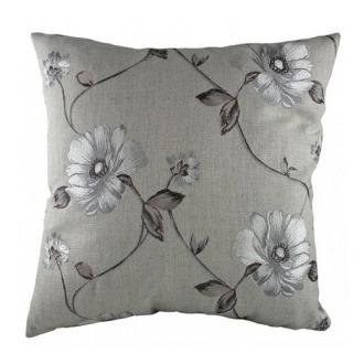 Подушка с орнаментом Gray  Flowers DG Home Pillows DG-D-PL282
