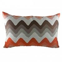 Подушка с полосками Orange Chevron DG Home Pillows
