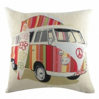 Подушка с принтом Campervan Surfing DG Home Pillows