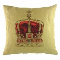 Подушка с принтом Queen Crown Cream DG Home Pillows