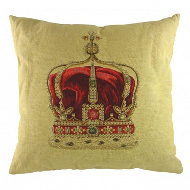 Подушка с принтом Queen Crown Cream DG Home Pillows DG-D-PL292
