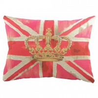Большая подушка с британским флагом Crown Pink DG Home Pillows